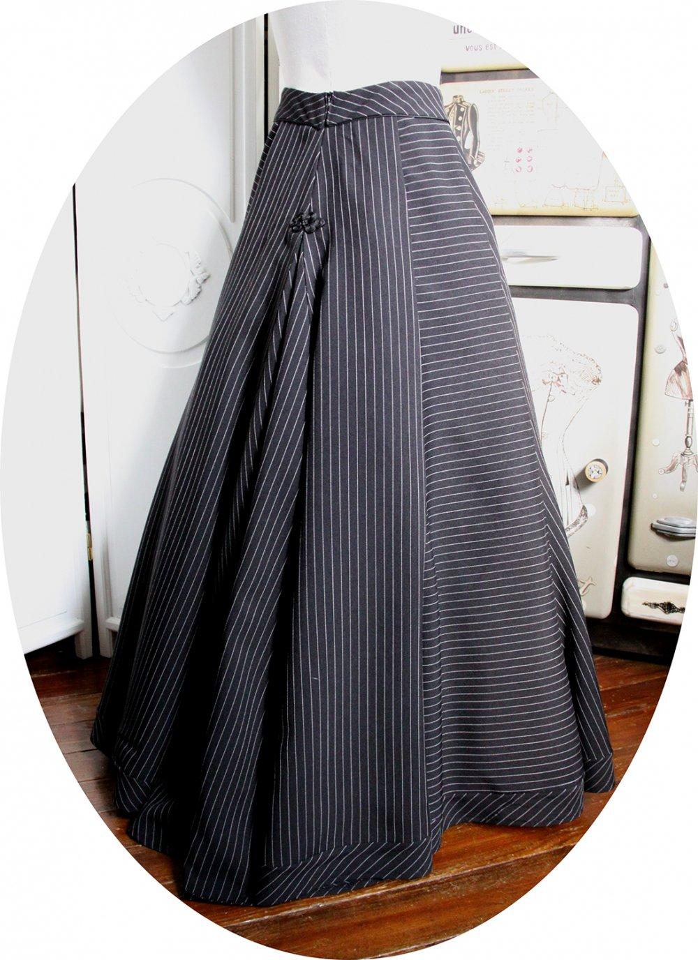 Jupe longue tulipe style amazone--9995835251387