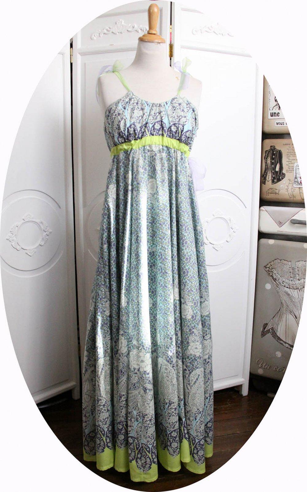 RESERVE - Robe longue taille haute en coton léger--9995913561155